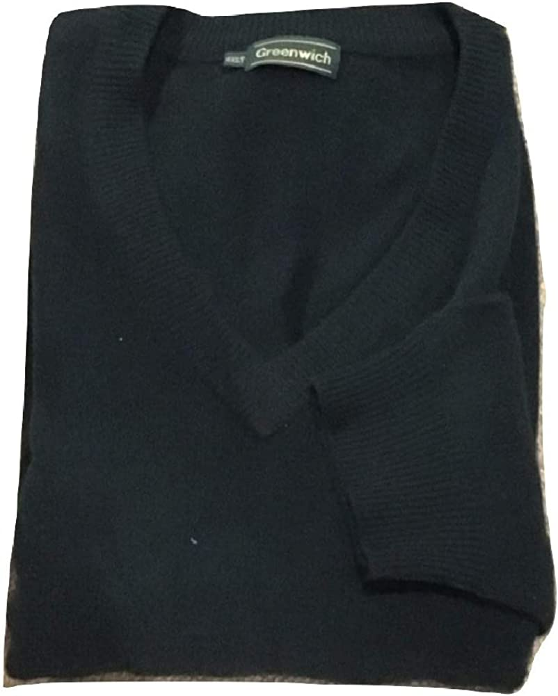 Greenwich All Lambswool Big and Tall V-Neck Solid Sweaters