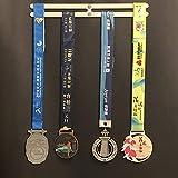 ZHXY Medallero Colgador de medallas Medal Hanger Medal Rack Continue Running Runner's Medal Hanger Medal Display Stand Trophy Holder para Maratón,Correr,Carrera,medallas Deportivas
