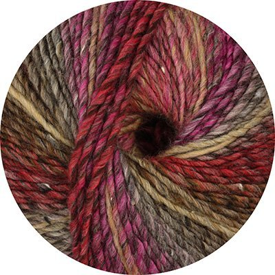 Linie 359 Fano Tweed Farbe 203 beige lila rot color