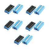 Dahszhi Double Row Dip Switch Assorted 8 Positions 2.54mm Pitch 16 Pin -10pcs
