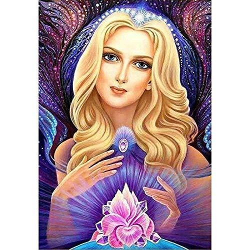 Diamant-mozaïek meisje 5D diamant, de volledige boormachine portret-afbeeldingen van de Rhinestone hobby en het ambachtelijk schildert 40x50cm/16x20in