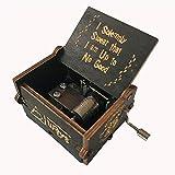 MINGZE Caja de música de Madera manivela, Pure Hand-Classical Music Box Hand-Wooden Music Box Creative Wooden Crafts Best Gifts, Variedad de Estilos (Harry Potter(Black))