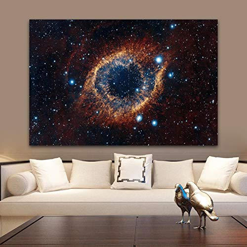 YCUION CanvasPaintingWallPicture Universe Space and Starry Sky Planet Oil Painting on Canvas Posters and Prints Wall Art Pictures for Living Room Decor-40x60cm
