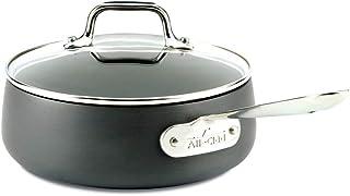 All-Clad E7852664 HA1 Hard Anodized Nonstick Dishwasher Safe PFOA Free Sauce Pan Cookware 2.5 quart Black 2100090549
