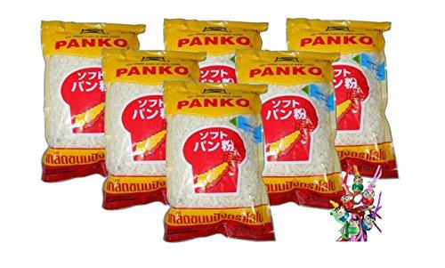 [ 6x 200g ] LOBO PANKO Brotkrumen nach japanischer Art / Tempura / Breadcrumbs + ein kleines Glückspüppchen - Holzpüppchen