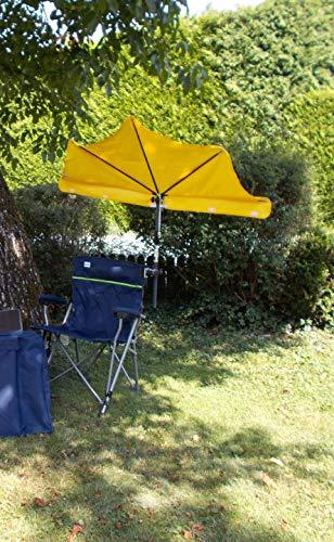 NEW - zonwering - graafzee - vrije tijd - outdoor - camping - reizen - zonwering set - met 1 stuks waaierparaplu's Holly Shadow - geel + met 360 ° draaibare universele scharnierhouder - Made in Baden woodmand - met tafelset van olie - 2 stoelen + tafel - VERTRIEF HOLLY PRODUCT TE STABIELO - Innovaties Duitsland - zo lang mogelijk - IT: holly waaierscherm video - levering met 2 schermen zie ASIN - B07GMPNH9M -