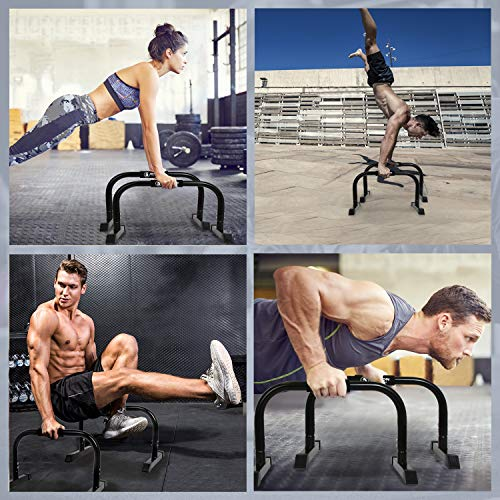 Product Image 7: 5BILLION XL Push Up Stands Parallettes Dip Bars with Non-Slip Foam Handle & Rubber Feet Workout for Handstand Muscle Ups Push Ups Home & Gym Training