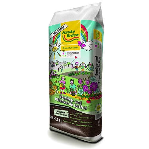 Gemüse- & Pflanzerde torffrei 38,5L | Garten-Erde | Erdesack mit Gemüseerde | Hervorragendes Anwachsen durch optimale Nährstoffverfügbarkeit