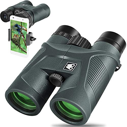 Sarblue 10x42 Binoculars for Adults with Smartphone Adapter, BAK4 Prism and FMC Lens, HD Professional Binoculars for Bird Watching Travel Stargazing Hunting Wildlife Watching Outdoor Concerts Sports