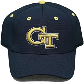 New! Georgia Tech University Yellow Jackets Adjustable Back Hat 3D  Embroidered Cap 255730e4162