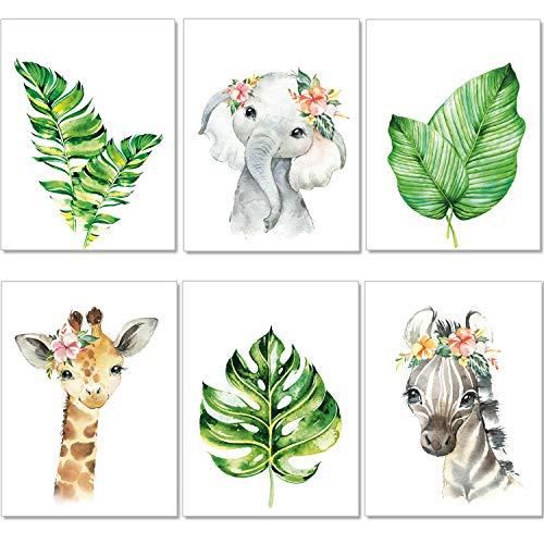 artpin® Juego de 4 pósteres para habitación infantil, tamaño A4, imágenes para habitación de bebé, decoración para niños y niñas (P47)