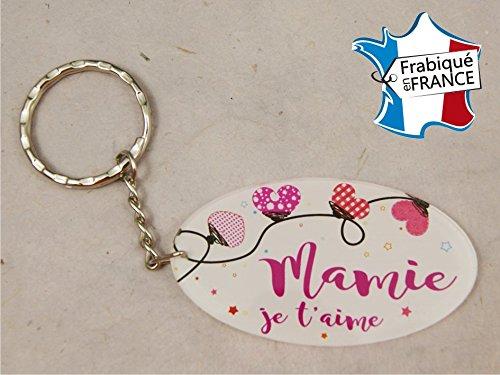 Porte Clef - Mamy je t'aime (Cadeau fête des grands mères, anniversaire, noël pour Mamie, annonce de naissance …)