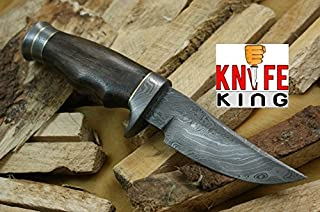 Knife King Desert Storm Damascus Handmade Hunting Knife. Comes With a Sheath.