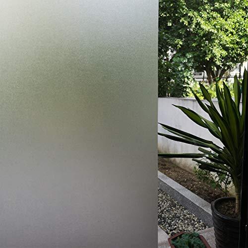 Película para ventana Películas adhesivas estáticas opacas Película no adhesiva Pegatinas para ventanas esmeriladas de privacidad Películas estáticas anti-UV blancas mate Oficina 40cm×5M