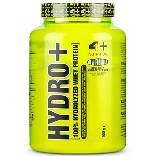 4 Sport Nutrition Hydro Package of 1 x 900g Whey Protein Hydrolyzate with Vitamins B6 B12 and B1 - Muscle Building (Almond Milk)