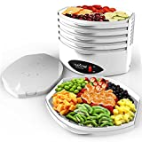 NutriChef 5-Tray Food Dehydrator - Professional Electric Multi-Tier Food Preserver, Meat or Beef