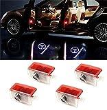 BSVLIA Logo per Porta Auto, 4 Pack Logo LED per Porta Auto Logo LED per Logo per W166 W212 W246 W176 W205 X 164 Benz Classe A Classe B Classe E Classe GL GLC GLE GLS GLA