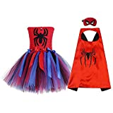 JJAIR Halloween Spiderman Kostüm, Mädchen Layered Tüll-Tutu-Rock, Party-Kleid-up-Rock-Prinzessin...