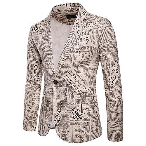 QXPORV Mannen blazer voor heren, het full-body herfst- en winterkrant ontworpen een reverspak voor heren met knop