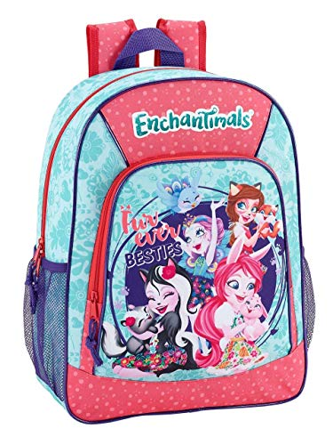 Enchantimals Oficial Mochila Escolar Niños 330x140x420mm