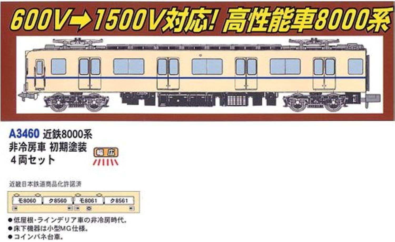 Kintetsu Series 8000 8000 8000 Non Air Conditioner Car, First Painting (4Car Set) (Model Train) b9278d