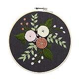 Flor DIY Bordado Trabajo hecho a mano Costura para principiantes Kit de punto de cruz Cinta Pintura Bordado Aro Decoración del hogar #, A3