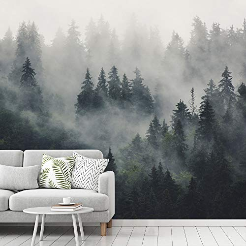 signwin Wall Mural Foggy Forest Removable Self-Adhesive Wallpaper Wall Decoration for Bedroom Living Room - 100x144 inches