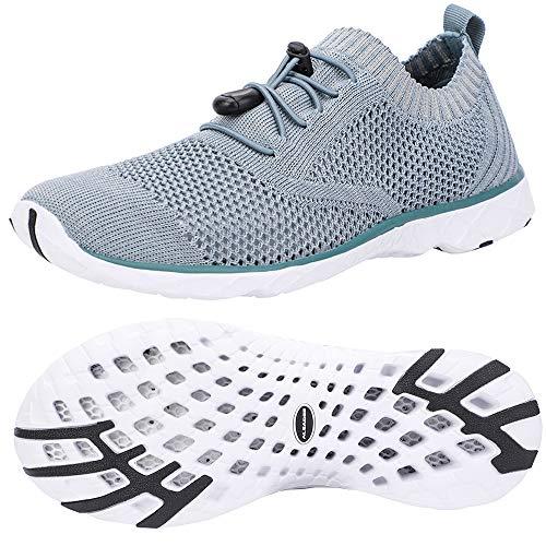 ALEADER Womens Fashion Sneakers, Water Shoes for Swim, Walk, Hike, Run Sea Blue/Gray 9 B(M) US
