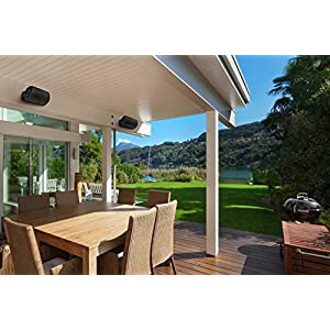 Polk Audio Atrium 6 Outdoor Speakers with Bass Reflex Enclosure (Pair, Black) - All-Weather Durability   Broad Sound Coverage   Speed-Lock Mounting System