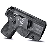 M&P Shield 9mm Holster, IWB KYDEX Holster Fit: S&W M&P Shield (M1.0/M.20) 9mm/.40 S&W - 3.1' Barrel Pistol, Not Fit Light/Laser, Inside Waistband Holster Concealed Carry, Adj. Cant&Retention