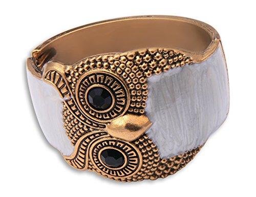 Enez XXL Damen Kette Armband Armkette Choker Armreifen Eule T596a