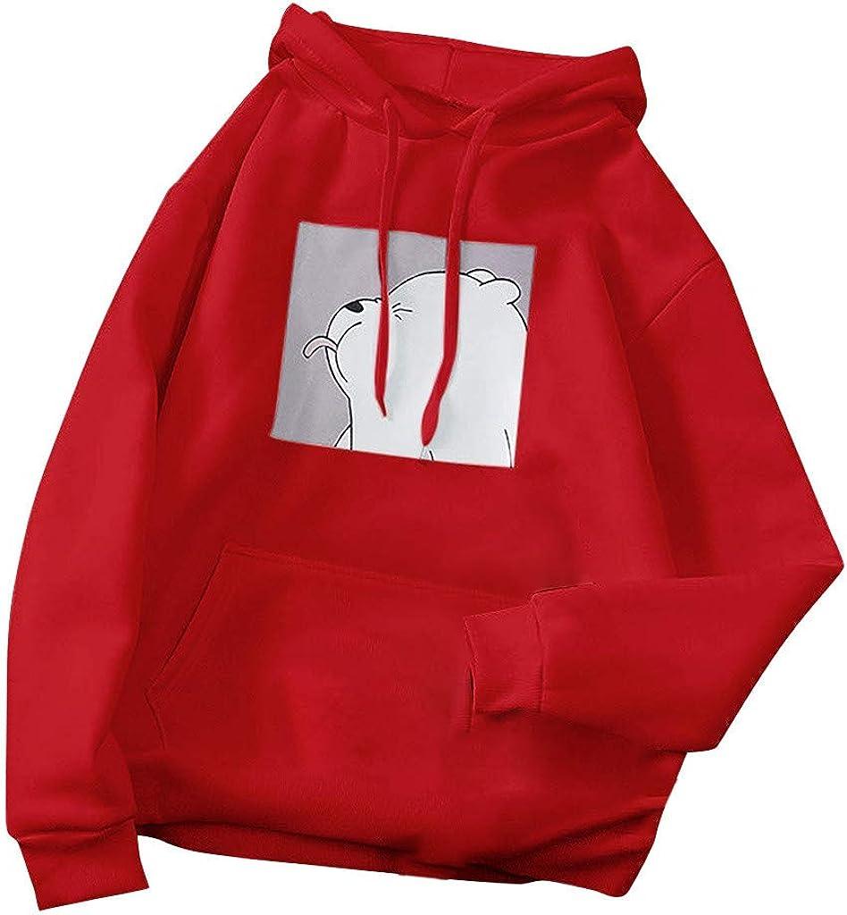 Sweatshirts for Women, Women Sweatshirts Teen Girls Casual Long Sleeve Cartoon Frog Hoodie Pullover Hooded Tops