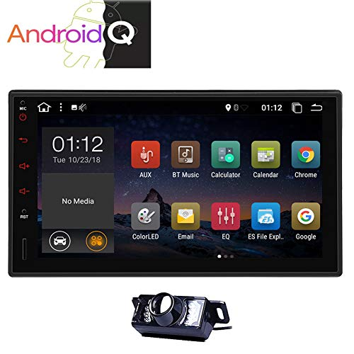 EINCAR Double 2 Din Android 10.0 Car Stereo 7 Inch GPS Navigation Car Video Player in Dash Car Radio Multimedia System with Bluetooth WiFi 1080P Mirrorlink Capacitive Touchscreen Backup Camera