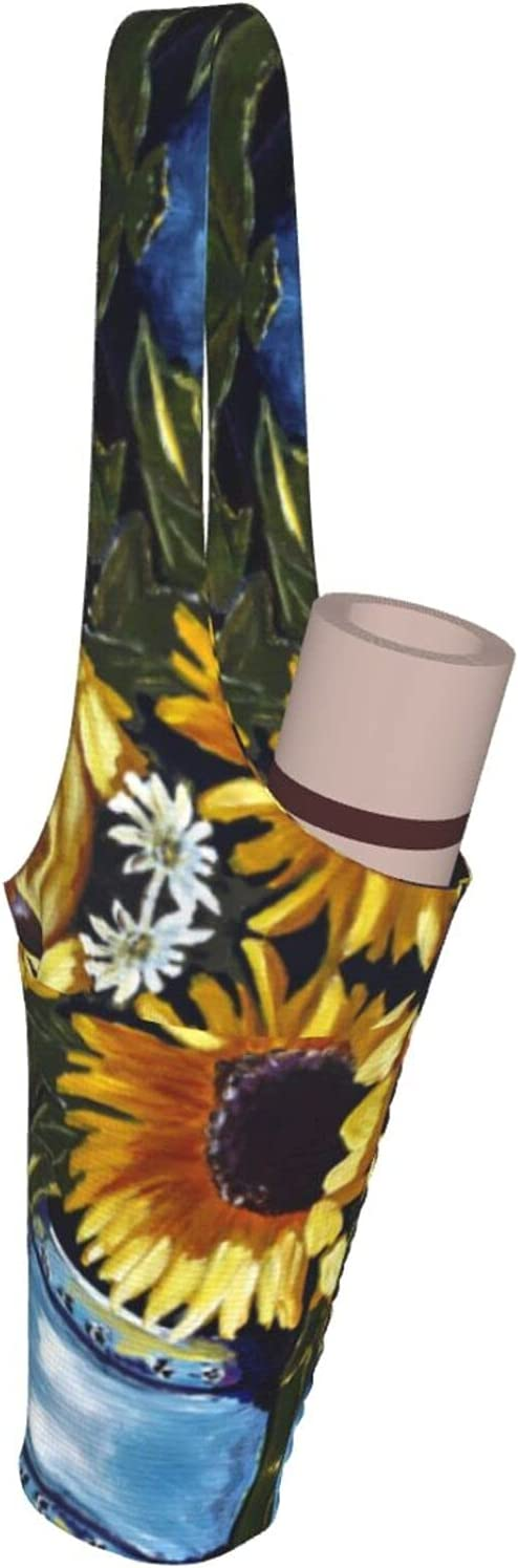 Wmllsno Yoga Mat Bag Sale SALE% OFF And Challenge the lowest price Carrier Large Painted Size Y Sunflowers