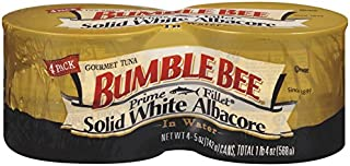 BUMBLE BEE Prime Fillet Solid White Albacore Tuna Fish in Water, 5 Ounce Can (Pack of 4),..