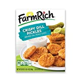 Farm Rich Crispy Fried Dill Pickles, Breaded Dill Pickle Slices with a Lightly Seasoned Breading,...