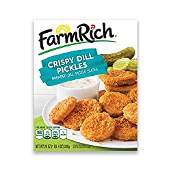 Farm Rich Crispy Fried Dill Pickles, Breaded Dill Pickle Slices with a Lightly Seasoned Breading, Fr