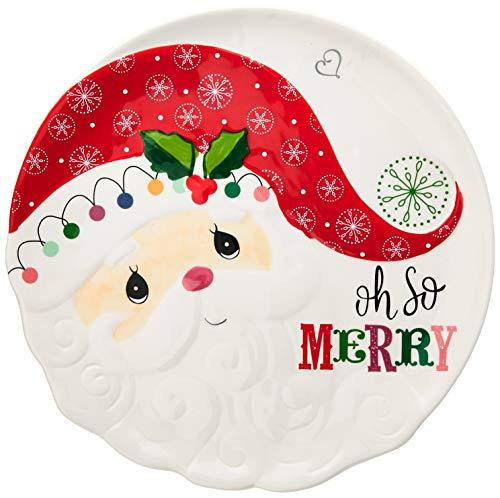 Precious Moments Santa 191420 Platter, One Size, Multi