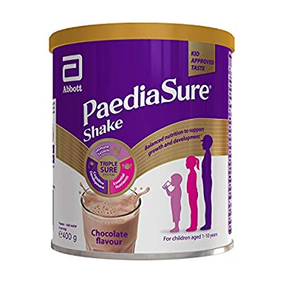 PaediaSure Shake Balanced Nutritional Supplement Drink   Multivitamin for Kids with Protein, Carbohydrates, Essential Fatty Acids and Minerals to Support Growth and Development†   400g   Chocolate
