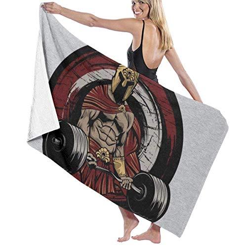 ENZOOIHUI Spartan Workout 300 The Bath Towel Toalla de Playa 80X130 Cm