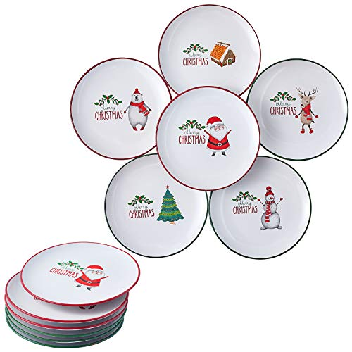 Christmas Theme Holiday-Inspired Ceramic  Plates 8