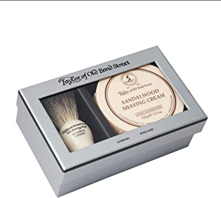 Taylor of Old Bond Street Pure Badger & Sandalwood Shave Cream Gift Box