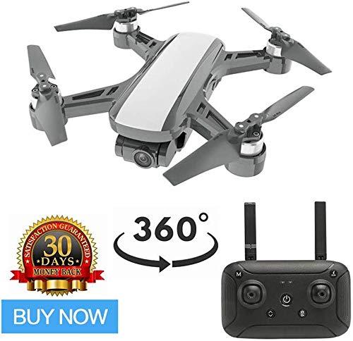 ZGYQGOO Drones Live Video, Distance contrôle Longue Distance à 360 °, mosans tête Longue portée, GPS Live Video HD, Distance focale équivalente pour Un quadricoptère 35 mm avec caméra pour Adultes