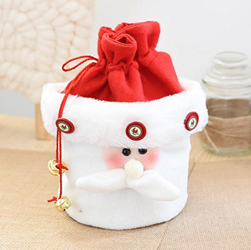 Party Candy Bags Cute and Lovely Santa Claus for Kids Resable Treat Lucky Cloth Gift Bags