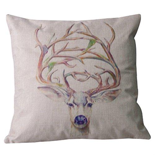 lazamyasa Home Decor Pillow Cover moderno rústico Safari Animal Print Throw funda de cojín de algodón, diseño de cebra 45,7x 45,7cm, 104, 1