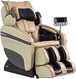 Osaki OS-7200H Pinnacle Executive Zero Gravity S-Track Heating Massage Chair, Cream, Computer Body Scan, 51 Air Bags, Neck/Back/Arm/Shoulder/Hand/Hip/Pelvis/Lumbar & Foot Roller Massage