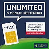 mobilcom-debitel Paquete SIM Todo Incluido: 6 Meses sin tarifas básicas, Internet LTE Ilimitado con...