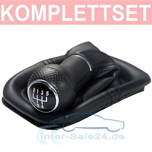 L & P Car Design L&P A252 Schaltsack Schaltmanschette Schwarz Schaltknauf 5 Gang 23mm kompatibel mit Golf 4 VI Rahmen Knauf Plug Play Ersatzteil für 1J0711113