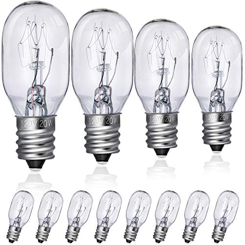 8 Pieces Mirror Replacement Bulb Clear Lighted Makeup Mirror Bulbs 120V 20W Replacement Bulbs for Double Sided Illuminated Mirror