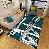 SYFANG Pen Zou Long Snake Alfombra Suave para Dormitorio Apto para calefacción por Suelo Radiante, 120X160cm (47X63inch)